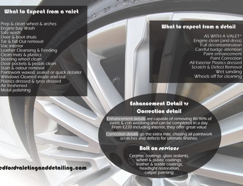 What is the difference between a car valet & a car detail?
